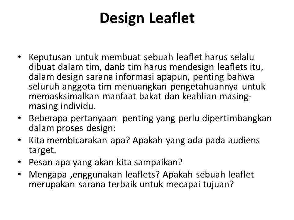 Design Leaflet