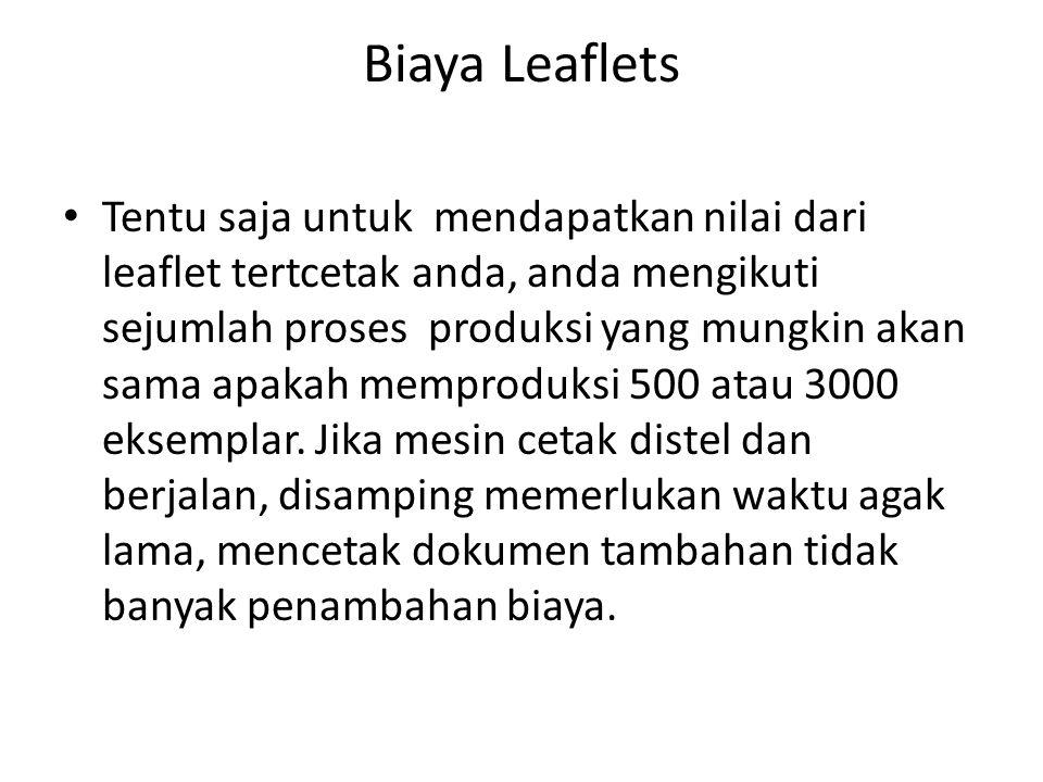 Biaya Leaflets