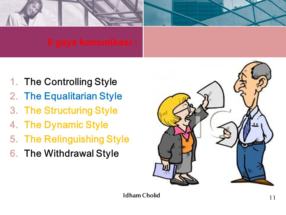 The Equalitarian Style The Structuring Style The Dynamic Style