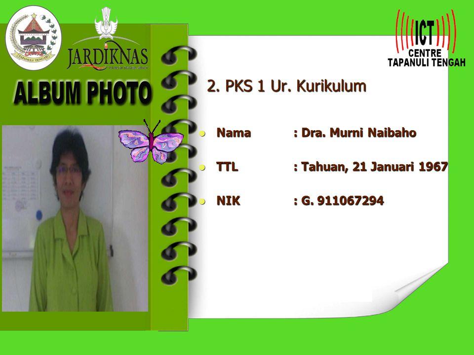 2. PKS 1 Ur. Kurikulum Nama : Dra. Murni Naibaho