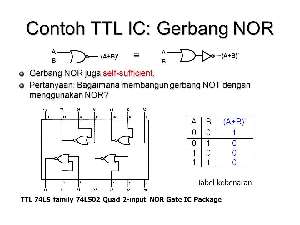 Contoh TTL IC: Gerbang NOR