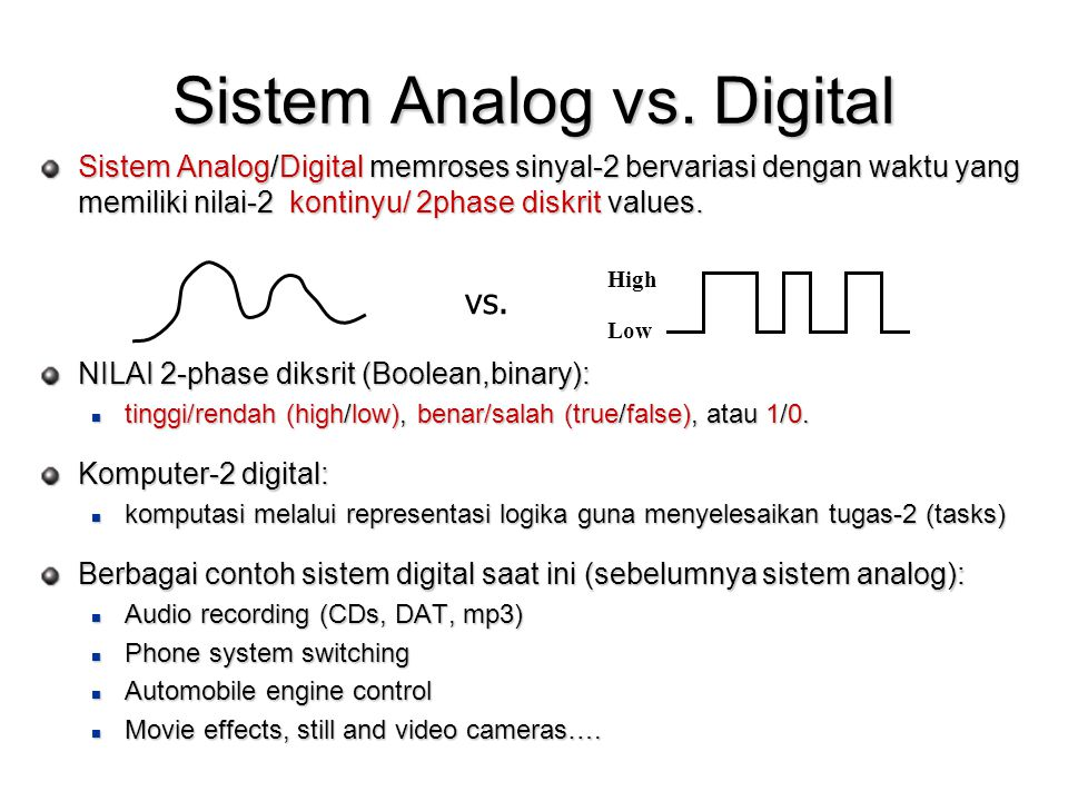 Sistem Analog vs. Digital