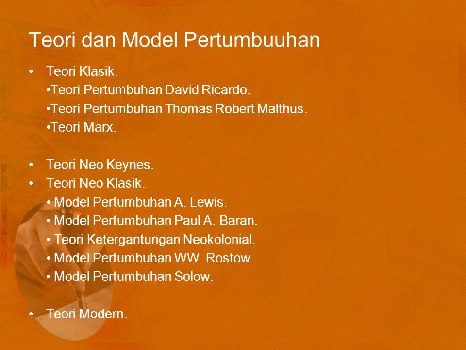Teori dan Model Pertumbuuhan