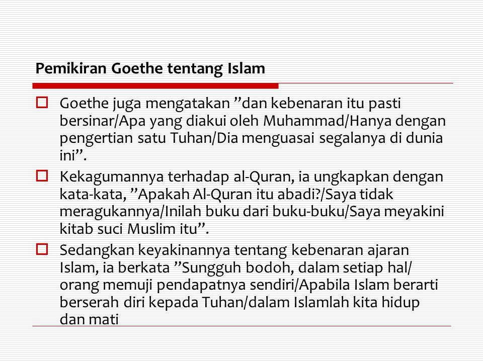 Pemikiran Goethe tentang Islam