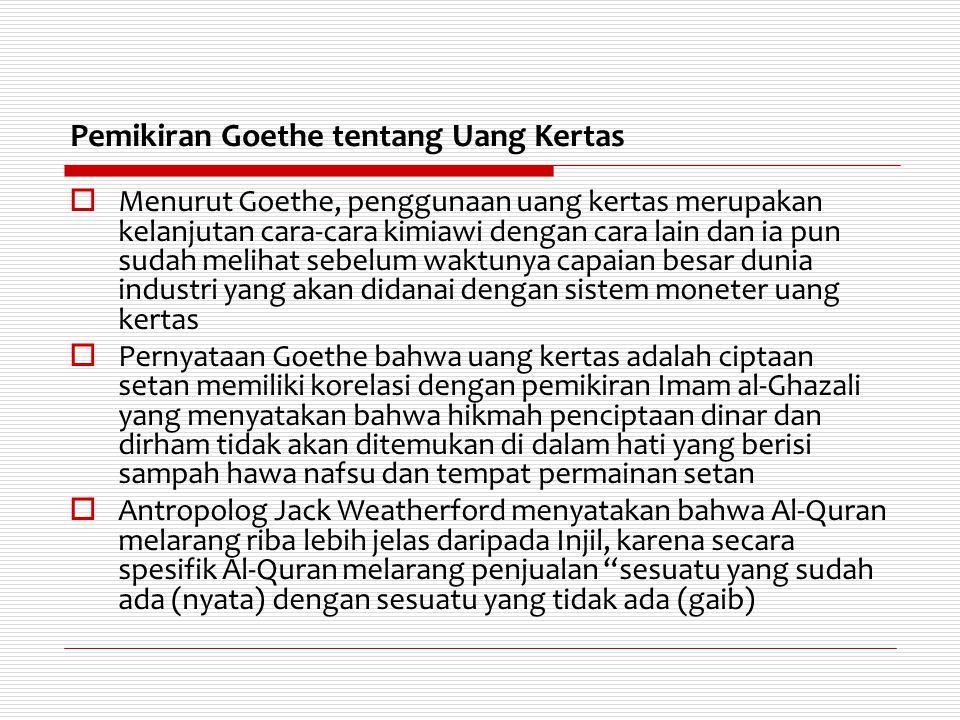Pemikiran Goethe tentang Uang Kertas