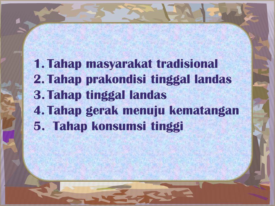Tahap masyarakat tradisional
