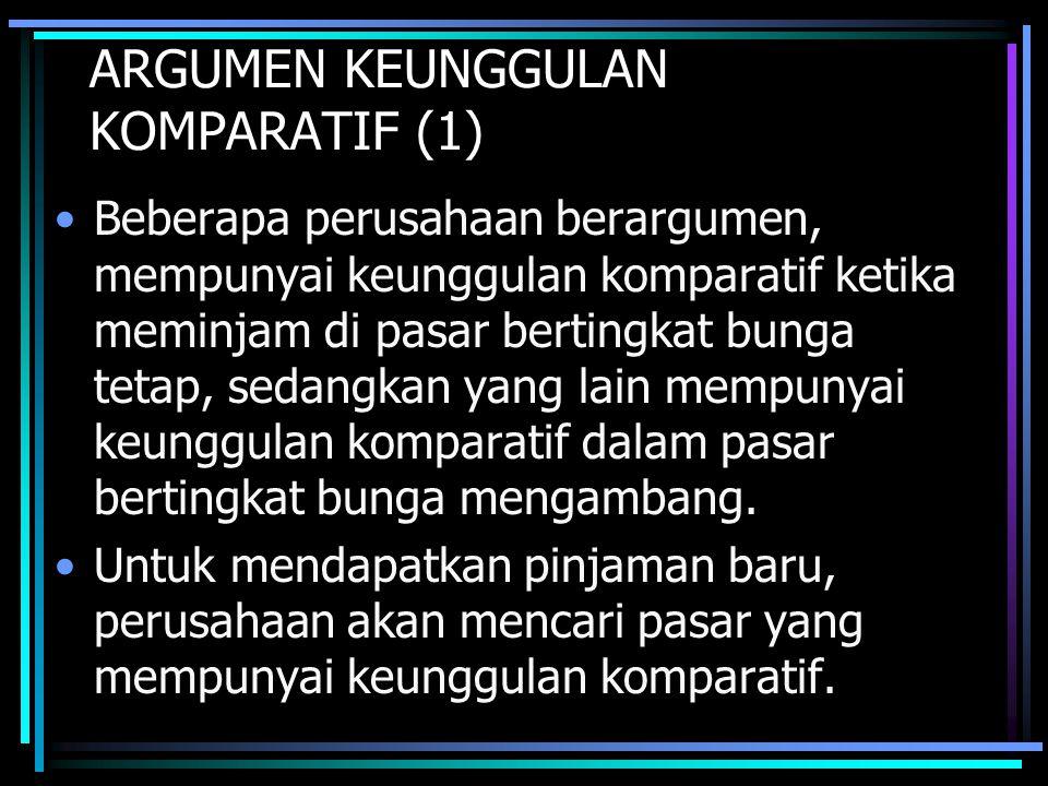 ARGUMEN KEUNGGULAN KOMPARATIF (1)