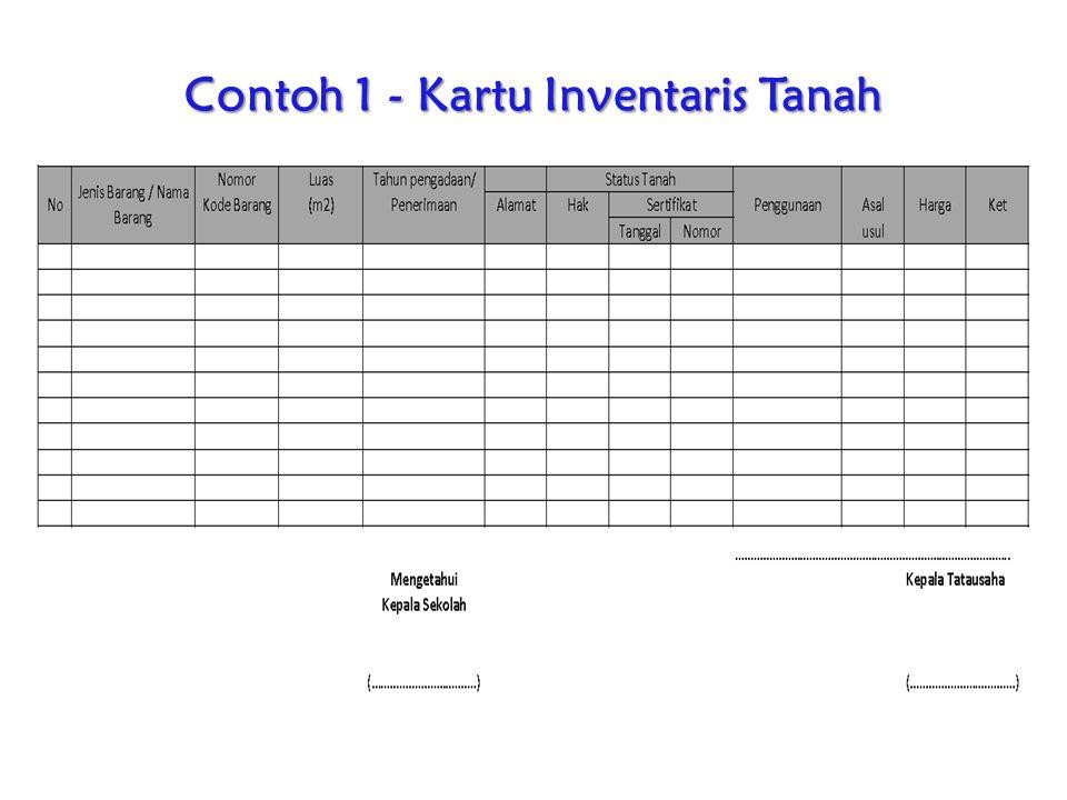 Contoh 1 - Kartu Inventaris Tanah