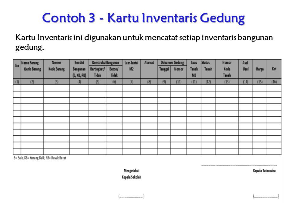 Contoh 3 - Kartu Inventaris Gedung