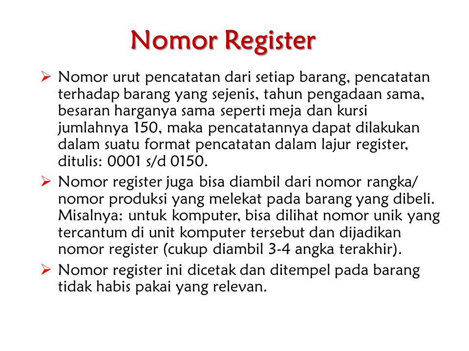 Nomor Register