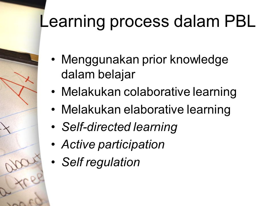 Learning process dalam PBL