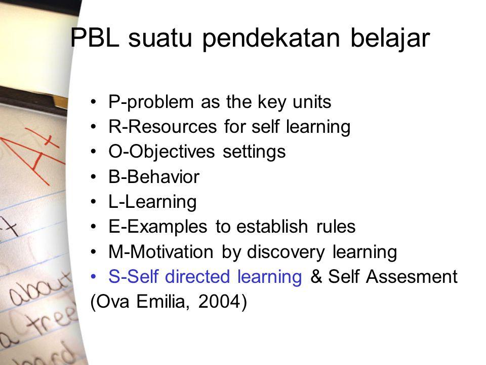 PBL suatu pendekatan belajar