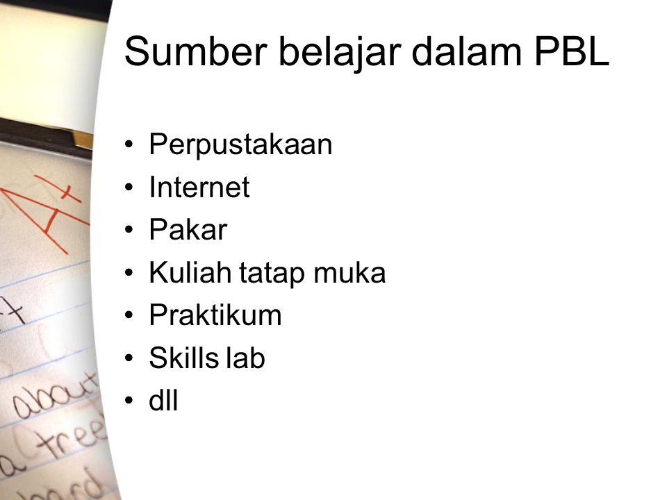 Sumber belajar dalam PBL