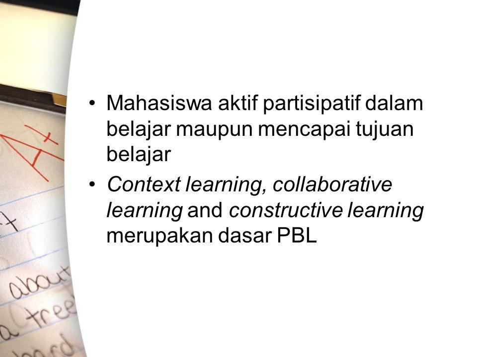 Mahasiswa aktif partisipatif dalam belajar maupun mencapai tujuan belajar