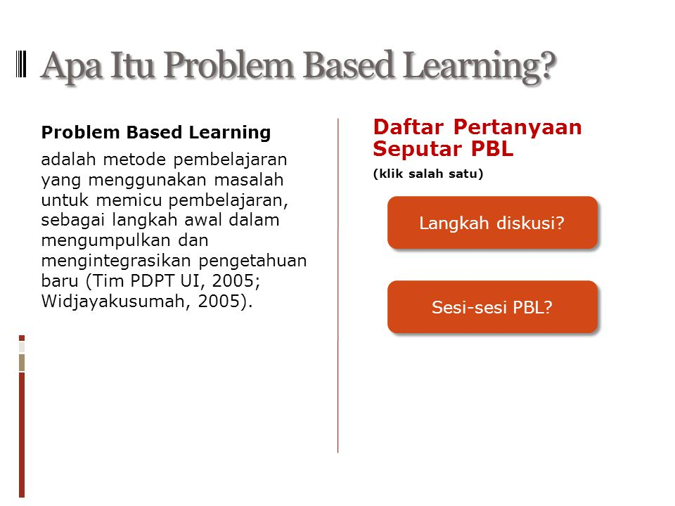Apa Itu Problem Based Learning