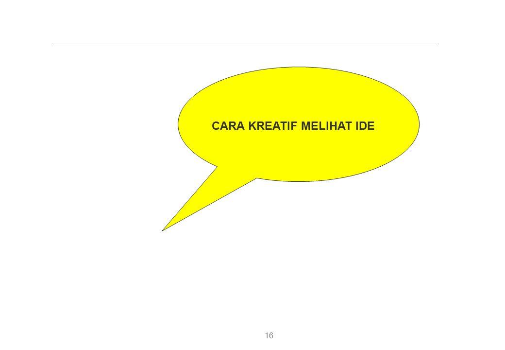 CARA KREATIF MELIHAT IDE