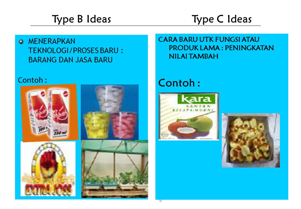 Type B Ideas Type C Ideas