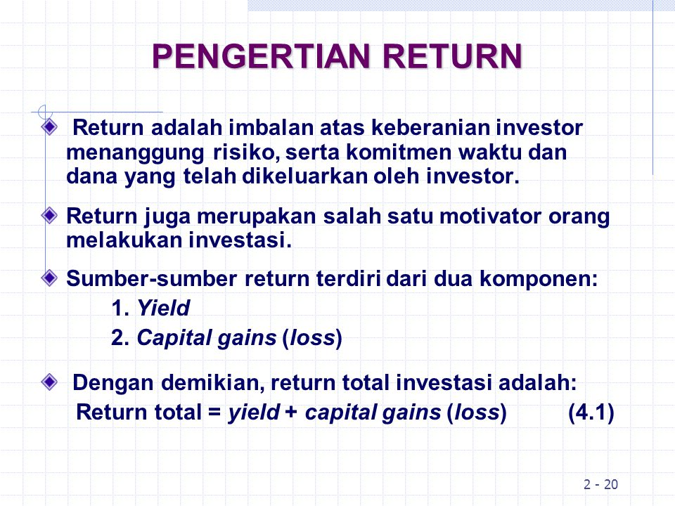 PENGERTIAN RETURN