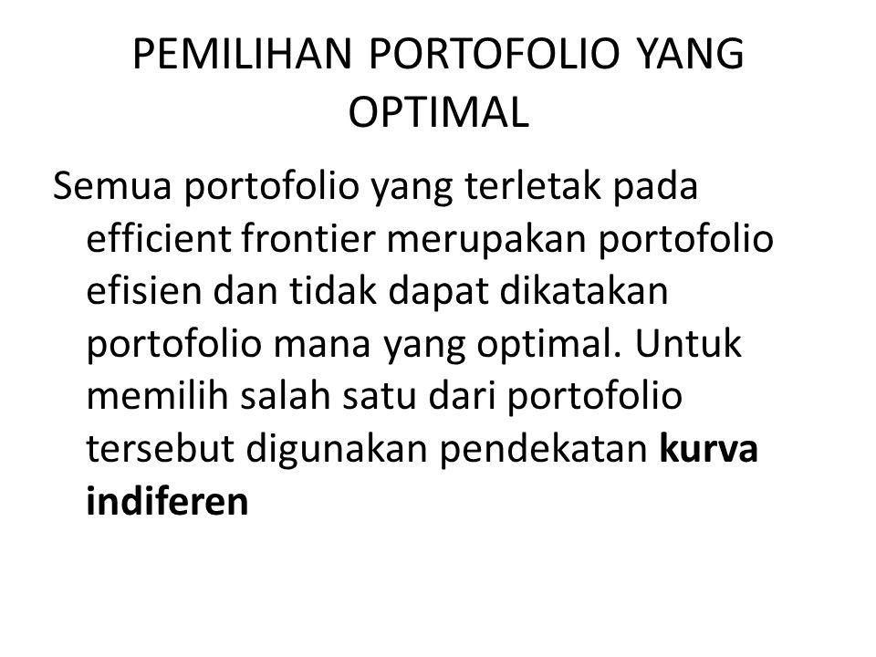 PEMILIHAN PORTOFOLIO YANG OPTIMAL