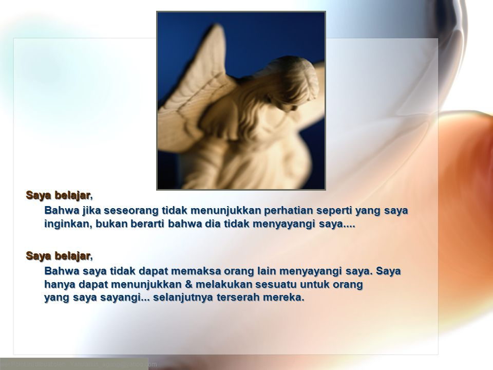 Power Point ini dibuat oleh : Yanuarius_agung@yahoo.com
