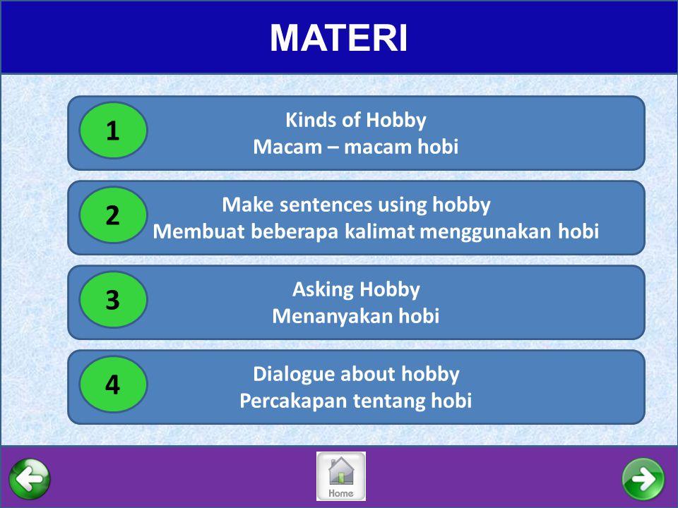 MATERI 1 2 3 4 Kinds of Hobby Macam – macam hobi