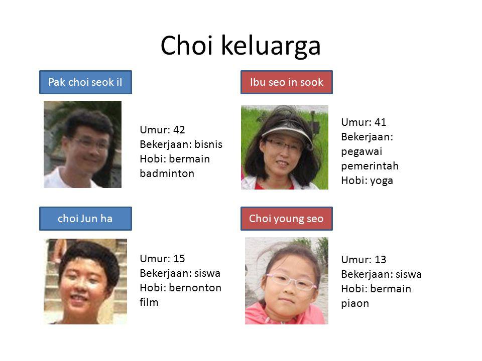Choi keluarga Pak choi seok il Ibu seo in sook Umur: 41