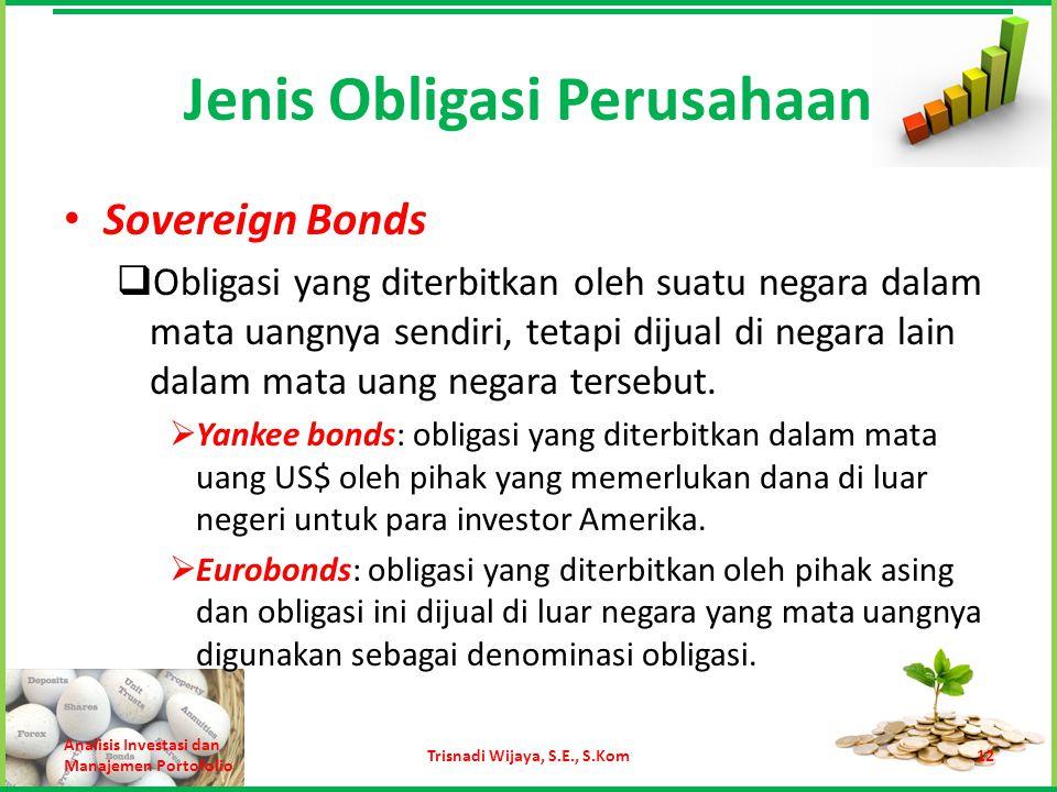 Jenis Obligasi Perusahaan