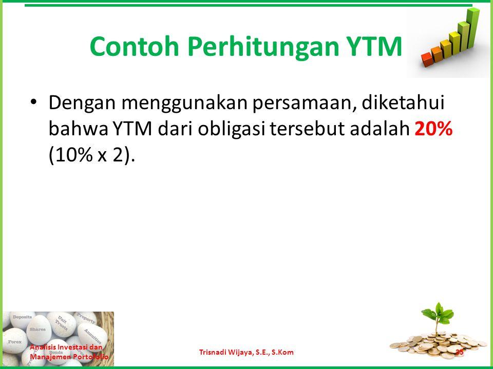 Contoh Perhitungan YTM