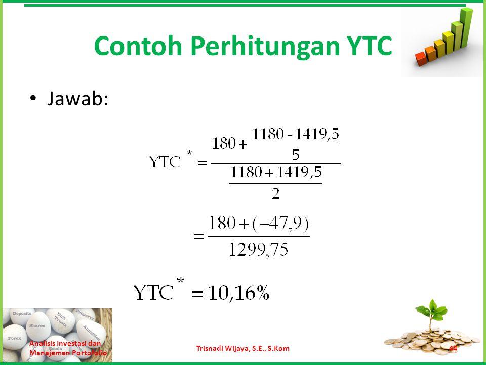 Contoh Perhitungan YTC