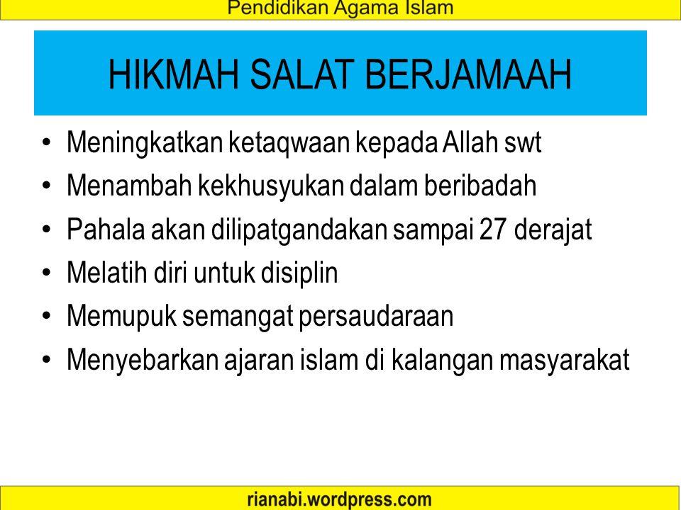HIKMAH SALAT BERJAMAAH