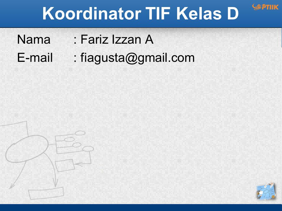 Koordinator TIF Kelas D