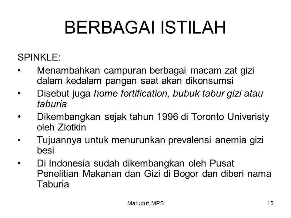 BERBAGAI ISTILAH SPINKLE: