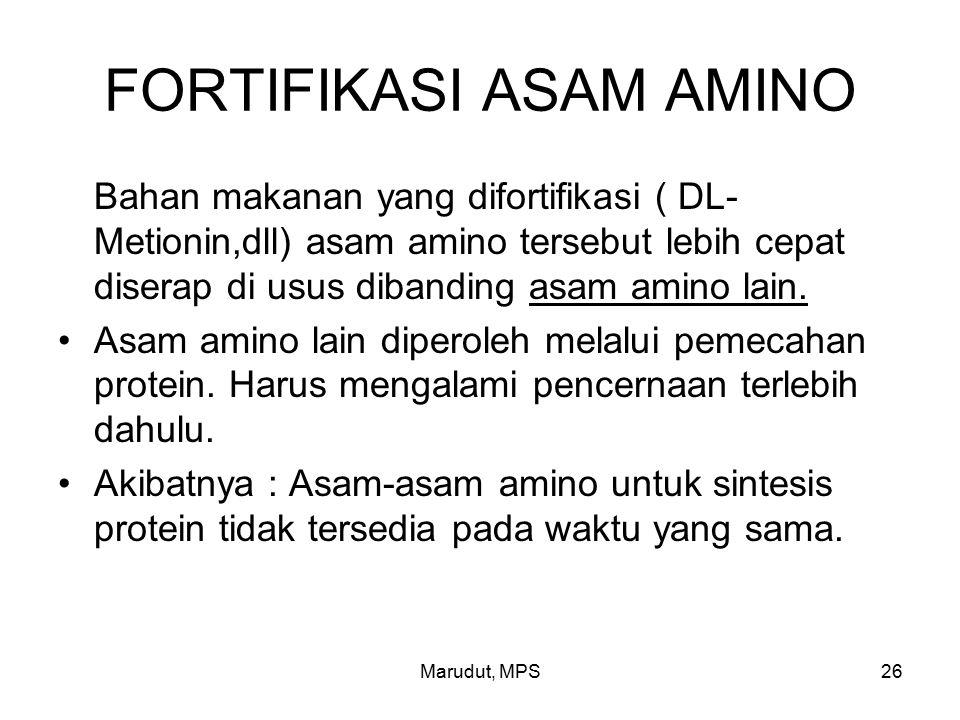 FORTIFIKASI ASAM AMINO