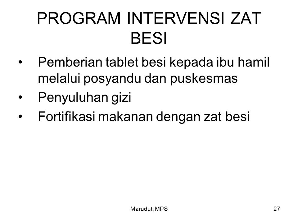 PROGRAM INTERVENSI ZAT BESI