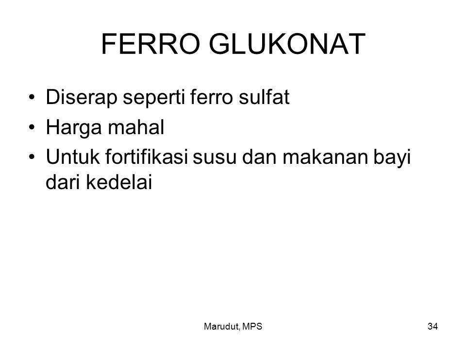 FERRO GLUKONAT Diserap seperti ferro sulfat Harga mahal