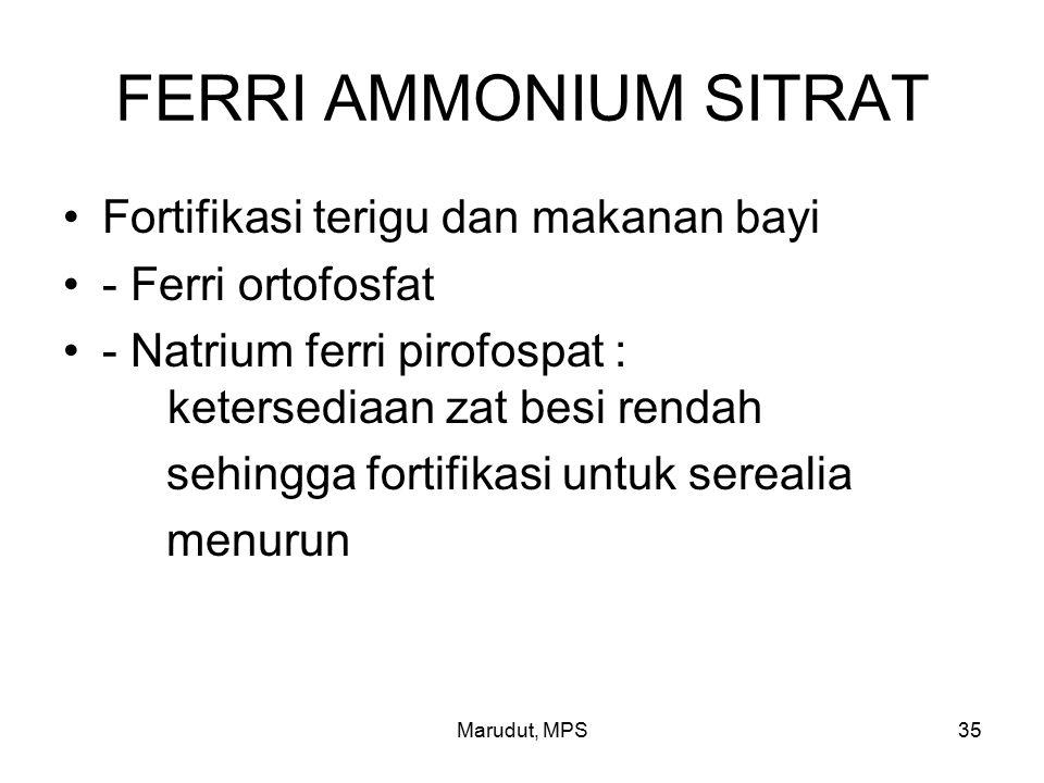 FERRI AMMONIUM SITRAT Fortifikasi terigu dan makanan bayi