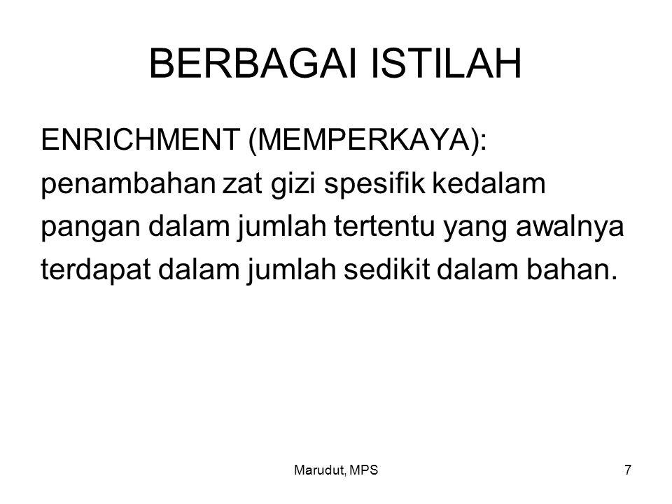 BERBAGAI ISTILAH ENRICHMENT (MEMPERKAYA):