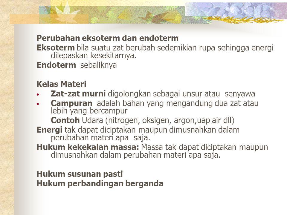 Perubahan eksoterm dan endoterm