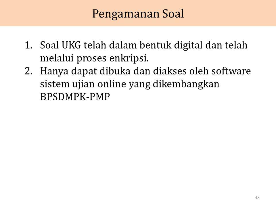 Pengamanan Soal Soal UKG telah dalam bentuk digital dan telah melalui proses enkripsi.