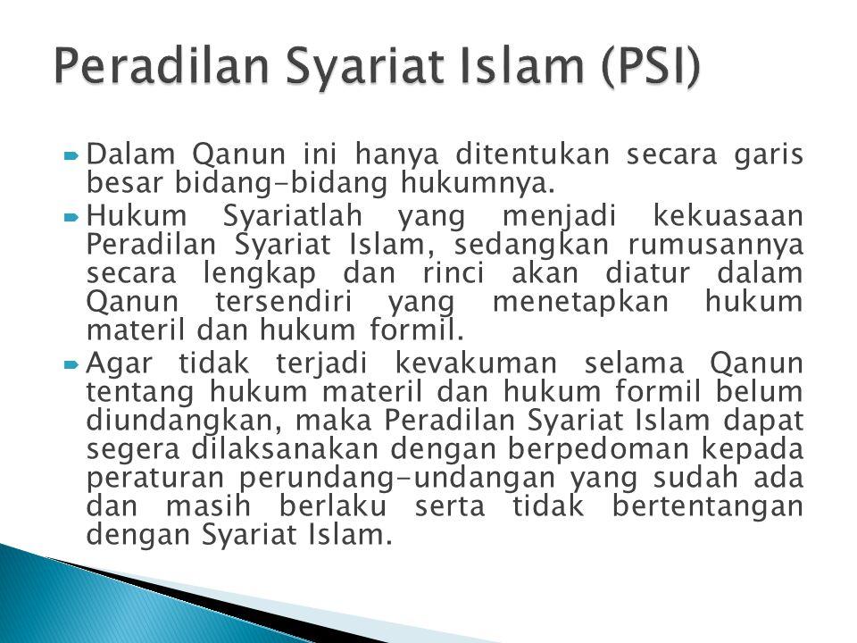 Peradilan Syariat Islam (PSI)
