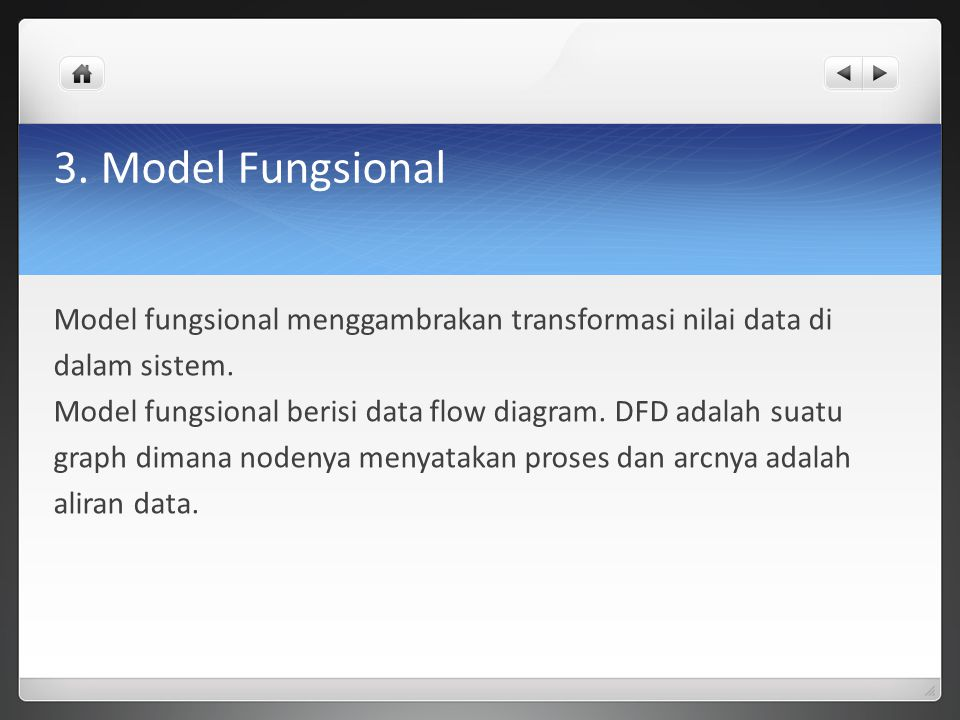 3. Model Fungsional