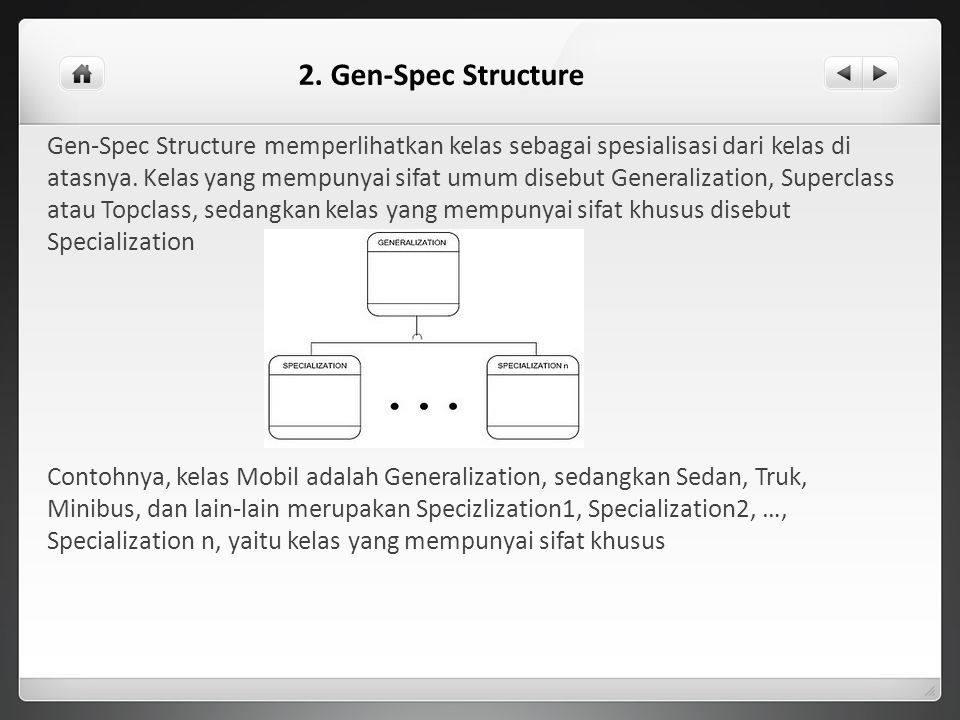 2. Gen-Spec Structure