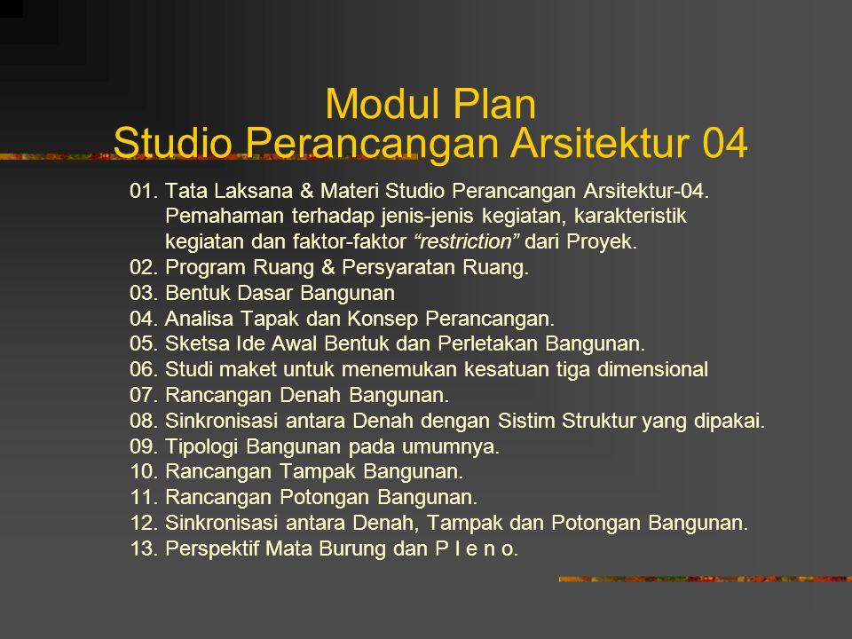 Modul Plan Studio Perancangan Arsitektur 04