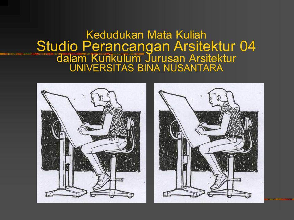 Kedudukan Mata Kuliah Studio Perancangan Arsitektur 04 dalam Kurikulum Jurusan Arsitektur UNIVERSITAS BINA NUSANTARA