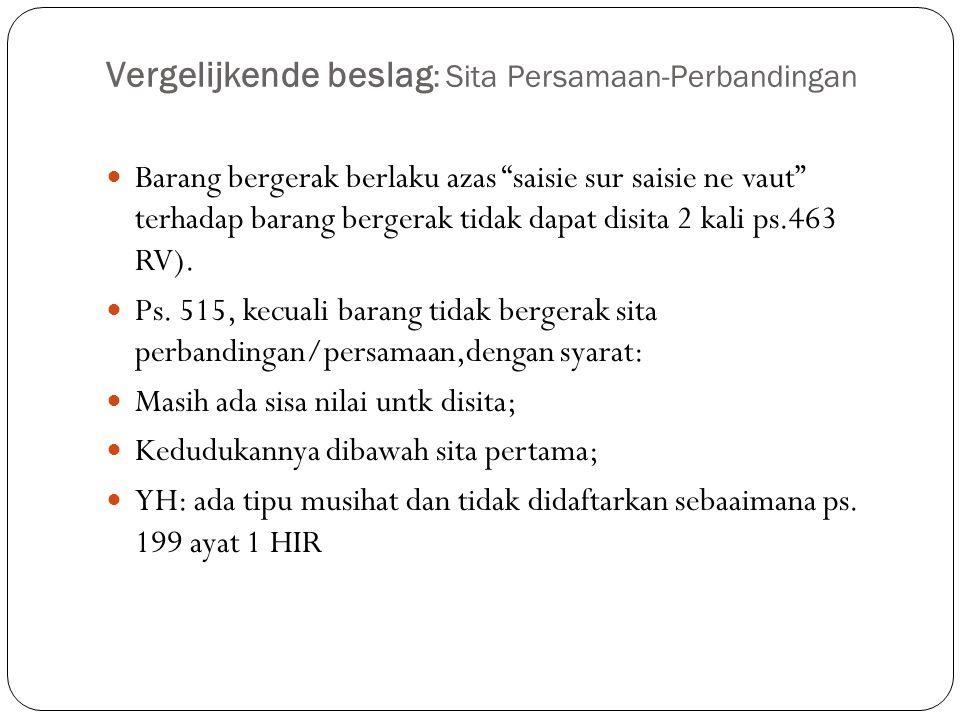 Vergelijkende beslag: Sita Persamaan-Perbandingan