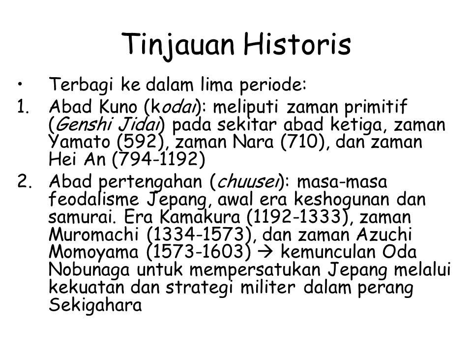 Tinjauan Historis Terbagi ke dalam lima periode: