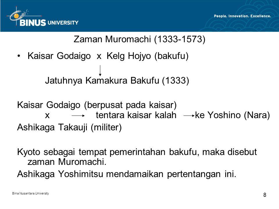 Kaisar Godaigo x Kelg Hojyo (bakufu) Jatuhnya Kamakura Bakufu (1333)