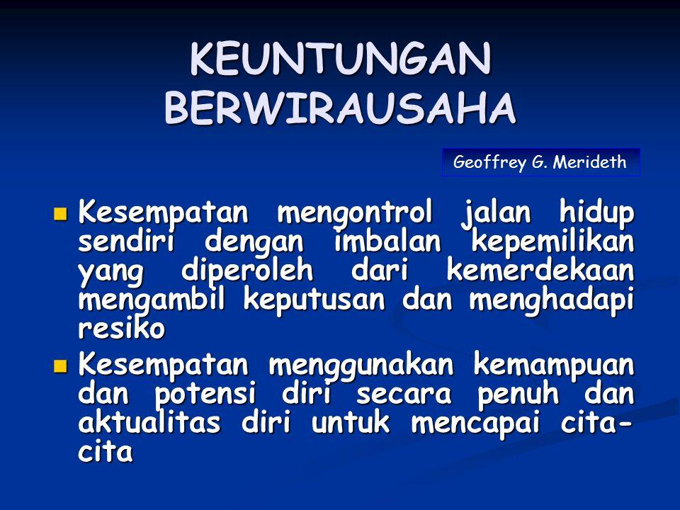 KEUNTUNGAN BERWIRAUSAHA