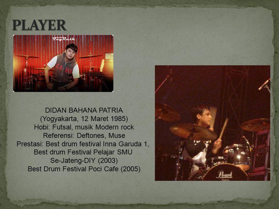PLAYER DIDAN BAHANA PATRIA (Yogyakarta, 12 Maret 1985)