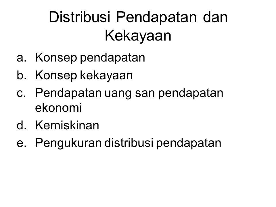 Distribusi Pendapatan dan Kekayaan